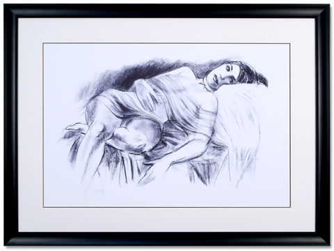 Charcoal Reclining Nude