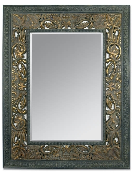 Vineyard Mirror - Black Onyx Finish
