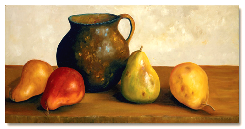 A Pitcher With Pears