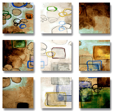 Aerial View - Set Of 9