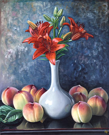 Peaches And Vase