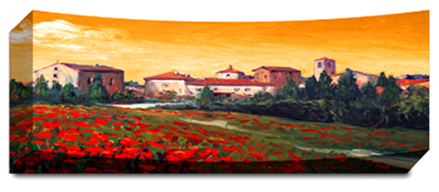 Tuscan Town - Panoramic